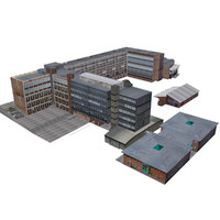 3d office block