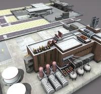 3d factory complex model