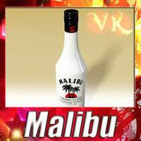 High detailed Malibu Liquor Bottle