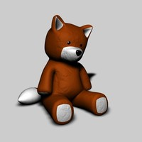 toy fox 3d model