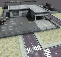 3d realistic warehouse model