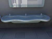 3d wc sink -