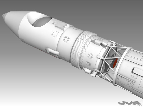 vostok 1 rocket space 3d max - Vostok 1 Space Rocket... by jvr3D
