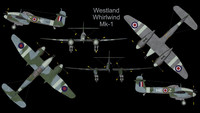 3dsmax rare westland whirlwind mk-1
