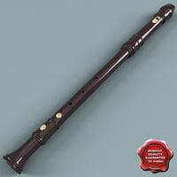 3d wooden flute v2