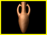 3d terracota amphora model