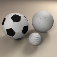 3d balls football soccer