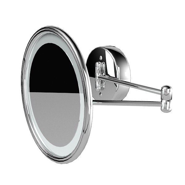 bathroom wall round vanity swinging magnifying mirror.jpg