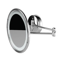 bathroom wall round vanity swinging magnifying mirror