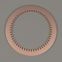 3d clock gear wheel