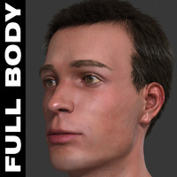 3ds max realistic male body -