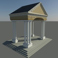 3d covered porch model