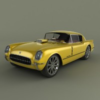 3d model chevrolet corvette corvair custom