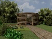 3ds max garden house
