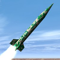 3d model hatf-i missile pakistan