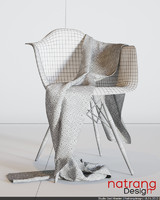 wool scarf daw chair 3d max