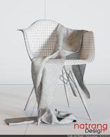 wool scarf daw chair 3d max