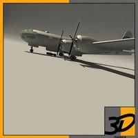 enola gay bomber aircraft 3d max