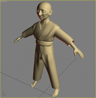 3d model of kung fu master