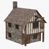 3d model of medieval house