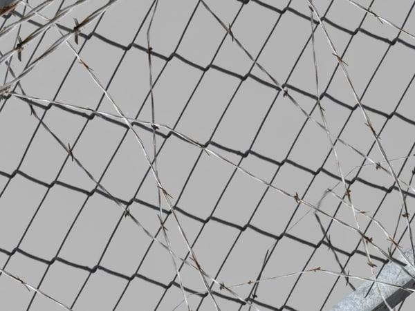 free pack prison fences modular 3d model
