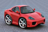 Smart car Ferrari 360 modena