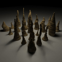 Cave Props : 25 unique Stalagmites
