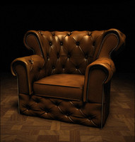 3ds max chesterfield design chair