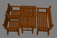 3d model ikea sitting set balcony