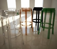 3d 3ds stool charles ghost philippe starck