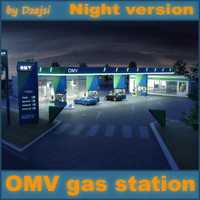 OMV Gas station NIGHT version