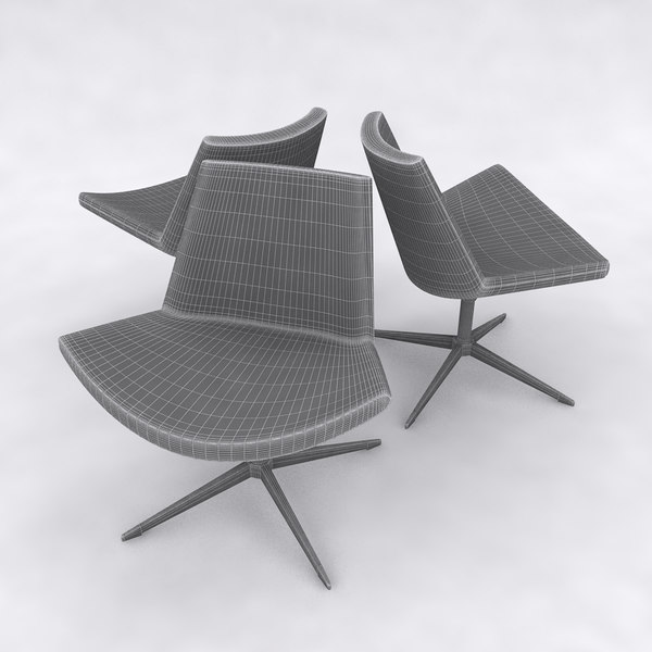 chair sofa couch 3d model - Lotus Chair... by glenchen