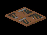 backgammon set 3d model