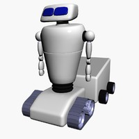 machine droid 3d model