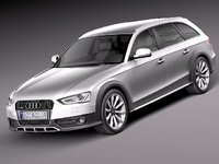 3d model audi a4 allroad quattro