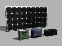 photovoltaic solar panel 3d model