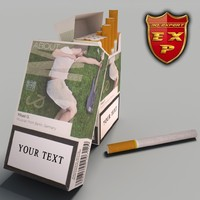 3d model lm pack cigarettes