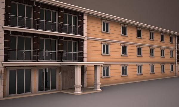 prefabricated building 3d 3ds - PREFABRICATED BUILDING 6... by kastaniga