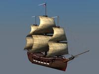 cinema4d pirate ship