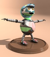 robot cartoon 3ds free