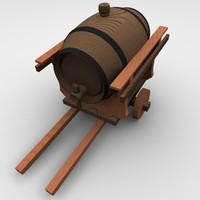 barrel carriage 3d model