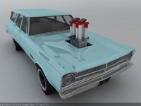 3ds max 1965 plymouth belvedere wagon