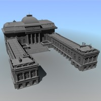 3d max brick building