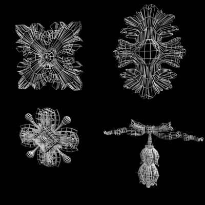 classical ornamental 3d model - Centers SET (12 models)... by VizArtOnline