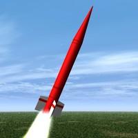 ballistic missile hatf-ib 3d dxf