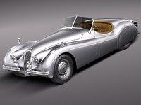 xk120 1948 1954 roadster c4d