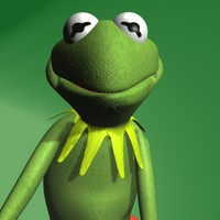 frog kermit rigged 3d model