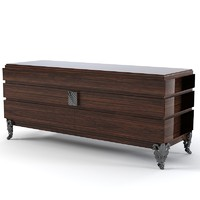 art deco sideboard 3d model