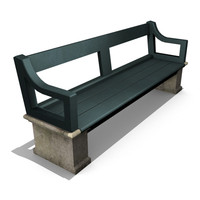 3ds old park bench