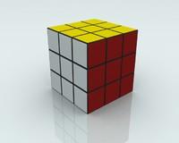 3d rubiks cube model